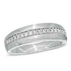 @Matt Chaffin ...probably my FAVORITE!! Men's 1/5 CT. T.W. Diamond Wedding Band in 10K White Gold