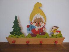 Vintage Gnome Wooden Wall Hook by jessamyjay on Etsy