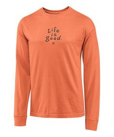 e636ac5b9ea Life is Good® Sunset Orange  Life Is Good  Crusher Long-Sleeve Tee - Men