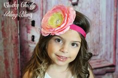 Girls Over the Top Flower Headband