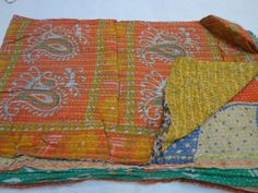 home made vintage throw kantha quilt by jaisalmerhandloom on Etsy, $79.00