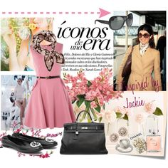 Icons of an Era: Jackie O, created by vaninafv on Polyvore