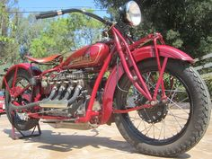 Early Indian motorcycles like this 1930 Indian 4 routinely sell . Indian Motorbike, Vintage Indian Motorcycles, Antique Motorcycles, American Motorcycles, Vintage Bikes, Custom Motorcycles, Cars And Motorcycles, Vintage Cars, Vintage Iron