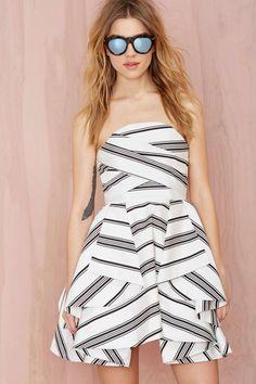 Cameo Night Tale Striped Dress