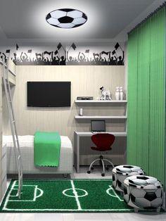 35 Coolest Soccer Themed Bedroom Ideas For Boys Cool Kids Bedrooms, Kids Bedroom Designs, Boys Bedroom Decor, Awesome Bedrooms, Bedroom Themes, Bedroom Ideas, Kids Rooms, Nursery Decor, Boys Football Bedroom
