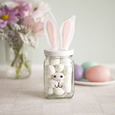 Charming Pastel Bunny Candy Jar For Kids