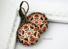 ♥ Orientalischer Teppich ♥ Ohrringe von MadamLili® ♥ Lebensfreude zum Tragen! :) ♥ auf DaWanda.com
