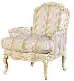 Valbonne Sofa Chair Cream/Brown Stripe