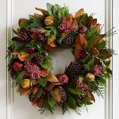 Holiday Fruit Wreath #williamssonoma
