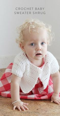 Free Pattern - Crochet Baby Sweater Shrug