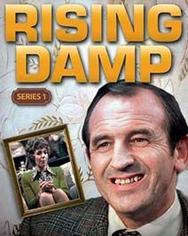 Popular sitcom set in a seedy bedsit lorded over by the mean, vain, boastful, cowardly landlord Rigsby. In each episode, his conceits are debunked by his long suffering tenants. Richard Beckinsale, Leonard Rossiter, Rising Damp, Are You Being Served, Comedy Tv Shows, Bbc Tv Series, British Comedy, Have A Laugh, Classic Tv