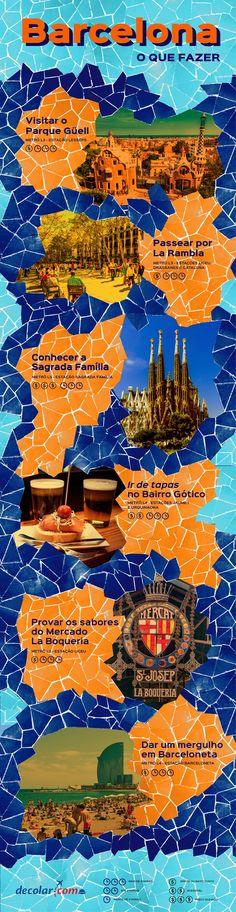 #Barcelona, na #Espanha, é a maior cidade e a capital da comunidade autônoma da Catalunha. Confira os principais passeios e faça uma listinha para não esquecer nenhum deles. #Trip #viagem