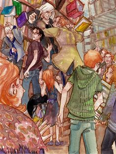 'Arthur vs Lucius' from Harry Potter and the Chamber of Secrets, chapter 4 Fanart Harry Potter, Harry Potter Artwork, Harry Potter Pictures, Harry Potter Fan Art, Harry Potter Universal, Sarah And Jareth, Welcome To Hogwarts, Harry And Ginny, Desenhos Harry Potter