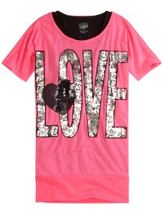 Justice Clothes for Girls Outlet | Girls Clothing | Short Sleeve | Foil ... | Justice my favorite store ...