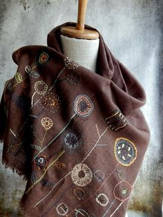"""Les Simples"" Scarf - Cafe"