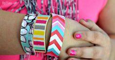 Craft Stick Bracelets (Fun Kids Craft Idea) Turn ordinary craft sticks into cute wearable bracelets Vbs Crafts, Camping Crafts, Craft Stick Crafts, Diy And Crafts, Craft Sticks, Teen Crafts, Popsicle Sticks, Creative Crafts, Craft Projects For Adults
