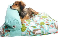 """Molly Mutt. Make your own dog bed with a cute """"Dog Duvet"""" from Molly Mutt. Also crate covers, leashes, and collars."""