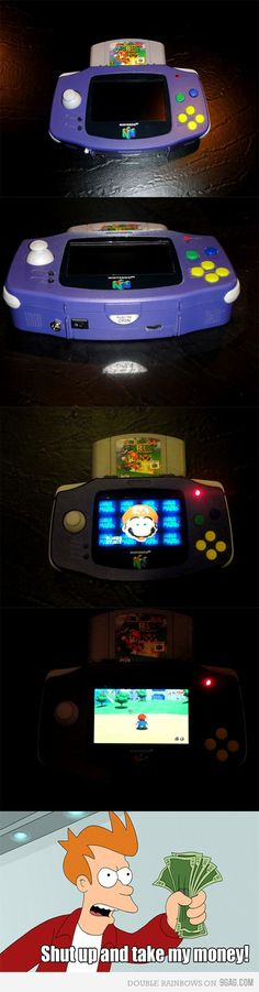 this is more awesome than I know how to express. Handheld Nintendo 64. I NEED this.<--- where do I but this?!!!!!!