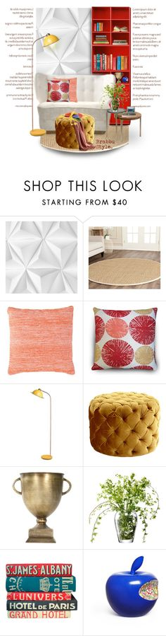 """""""Brabbu Contemporary Living.."""" by vkevans ❤ liked on Polyvore featuring interior, interiors, interior design, home, home decor, interior decorating, Mr Perswall, Trilogy, Safavieh and Lassen"""