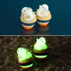A personal favourite from my Etsy shop https://www.etsy.com/listing/551364159/glow-in-the-dark-ghost-cupcake-earrings