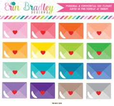 Love Letters Mail Clipart – Erin Bradley/Ink Obsession Designs