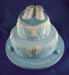 Footprint Christening Cake by Lily Pad Bakery, via Flickr