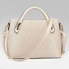Women's top handle saffiano handbag shoulder bags for lady female feminina bolsas elegant upscale PU leather white red black