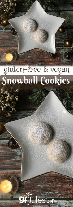 Classic Free Pecan Snowball Cookies - made vegan and gluten-free | gfJules.com