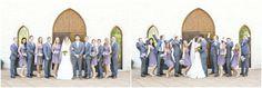Lavender dress/ gray tuxedo