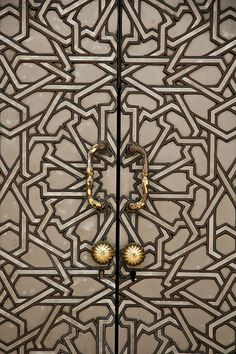 Patterned doors