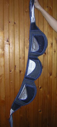 HIP BAG  belt case holder/ Festival Pocket/ Belt Tote concert wallet bike  travel purse mixed fabrics with Blue denim glitter-Silver canvas. $45.00, via Etsy.