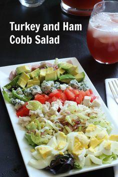 and Ham Cobb Salad, Label Salads from Eat Smart Make Healthy Eating Easy 730 Sage Street, serve salad. Pasta Side Dishes, Main Dishes, Classic Salad, Healthy Eating Recipes, Healthy Eats, Healthy Foods, Eat Smart, Dinner Salads, Soup And Salad