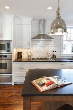 Tile to ceiling and around window. Subway Tile Kitchen Ideas-39-1 Kindesign: