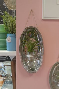 Upcycled Mason Jar Metal Sconce/Planter!