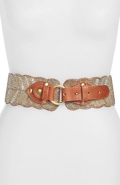 Free shipping and returns on Natasha Couture Beaded Belt at Nordstrom.com. Shimmery lines of delicate glass beads pattern a wide faux-leather belt with scalloped edges.