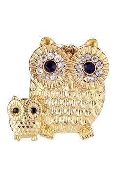 Double Owl Ring