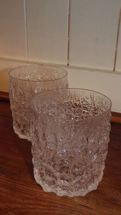 WHITEFRIARS Crystal Glacier Baxter Bark PAIR OF GLASS TUMBLERS