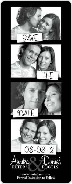 film strip save the date