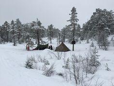 Lavvo-camp på toppen av stolheisen i Funkelia, Kongsberg Skisenter