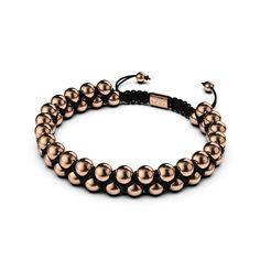 18k Rose Gold, 18k Gold, Surfer Bracelets, Metal Finishes, Black Nylons, Black Gold, Beaded Bracelets, Silver, Leather