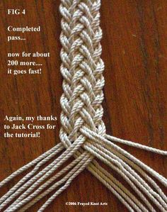 TUTORIAL FOR 17 STRAND FRENCH SENNIT BOSUN LANARD  Would make lovely tie-backs for drapes