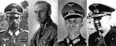 Militares con sangre judía según los nazis: el coronel Walter Hollaender, el subteniente de las paramilitares SA Hans Sander, el general Werner Malzahn y el almirante Rogge