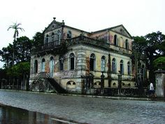 Abandoned mansion, formerly a house then a restaurant in Santa Catarina, Brazil.