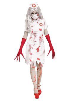 Horror Nurse Costume for Women - FOREVER HALLOWEEN Horror Costume, Scary Halloween Costumes, Halloween Party, Women Halloween, Adult Halloween, Spooky Halloween, Halloween Ideas, White Nurse Dress, Cute Scrubs