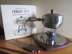 Mid Century Stainless Steel Fondue by AtomicKittenVintage on Etsy