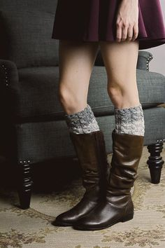 2-Tone Boot Cuffs by HadarahBoutique on Etsy
