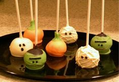 Halloween Cake Pops --more optimistic about second attempt