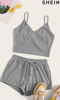 New Fashion Experience - Sporty Style Girls Fashion Clothes, Teen Fashion Outfits, Cute Fashion, Outfits For Teens, Cute Pajama Sets, Cute Pjs, Cute Pajamas, Cute Lazy Outfits, Stylish Outfits