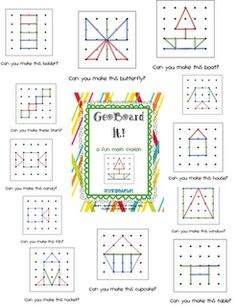 fiches pour geoboards