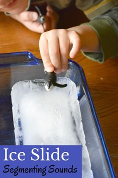 Ice Slide Segmenting Activity is a fun phonemic awareness game to play. This playful ice activity teaches kids to segment words which helps in learning to read.